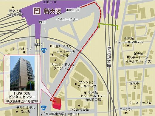 TKP新大阪地図